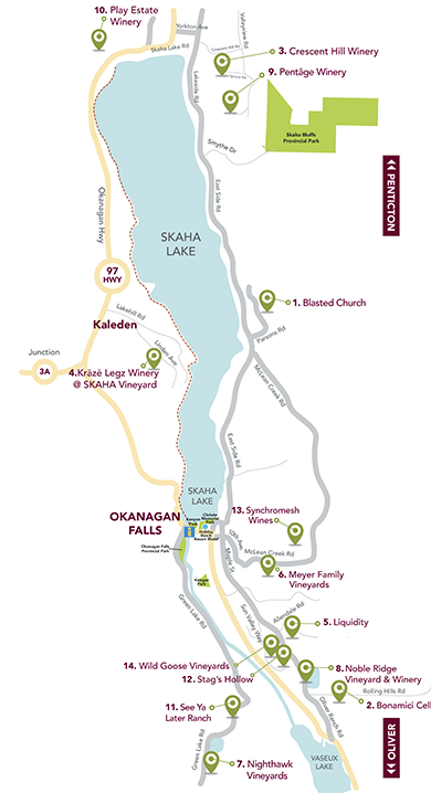 Okanagan Falls Map