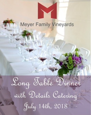 Long table dinner with Details Catering