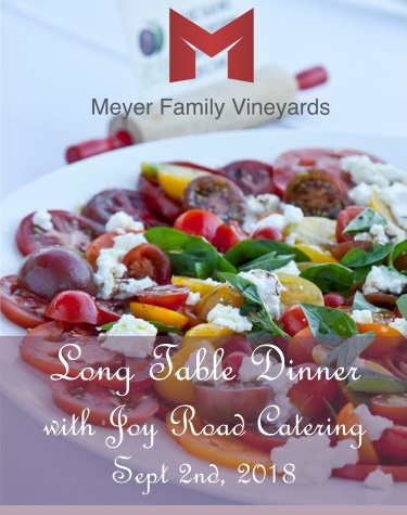 Long table dinner with Joy Road Catering