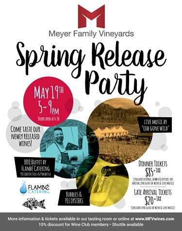 Meyer Family Vineyards Spring Release Party