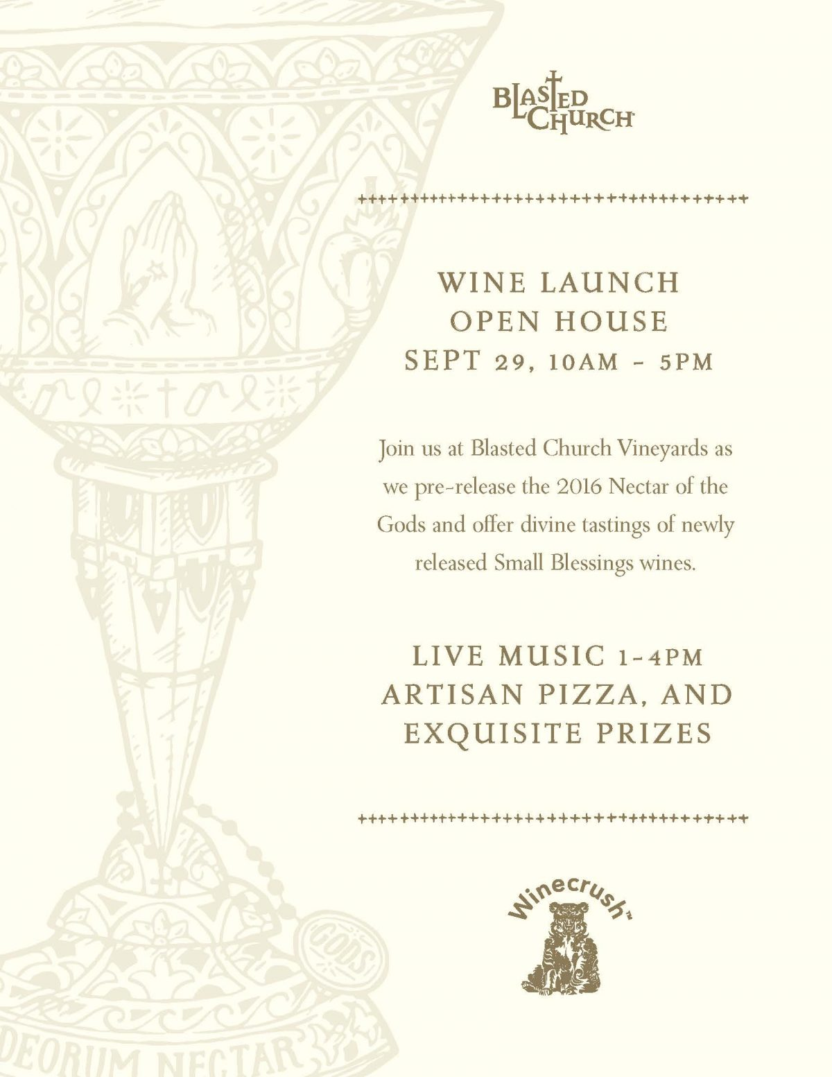 Nectar of the Gods Wine Launch Open House